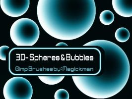 3D Spheres and Bubbles 4 GIMP by blueeyedmagickman