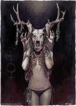 The Horned Goddess by Lovell-Art