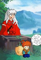 Inuyasha and Kagome kissing??? by ConArt-3