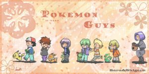 Pokemon Guys 2 by sara by Sara-Sakurahime