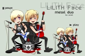 APH: Nor and Fin Lilith Face by Jorael