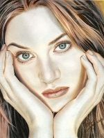 Kate Winslet Color Drawing by riefra