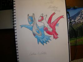 Latias and Latios by Akatsuki-waffles