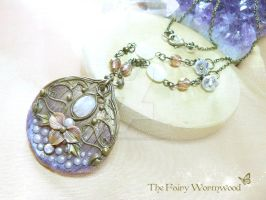FairyMoon Nouveau Necklace by EnchantedTokenArt