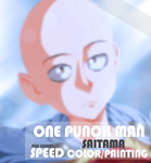 One Punch Man Saitama - SPEED COLOR and LINEART by kvequiso