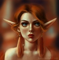 Young queen of elves by Biyaku