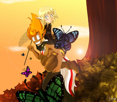Butterfly hunt? by Martyna-Chan