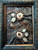 Framed biomech eye junk by dogzillalives