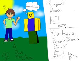 A dumb moment on roblox. by unplugged12sistercat