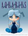 Zodiac Chibi: Aquarius by Neko-CosmicKitty