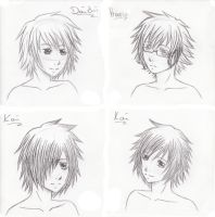 ~Memory Days Headshots~ by piko-chan4ever