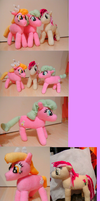 Roseluck, Lily and Daisy plushies by Crystal-Dream