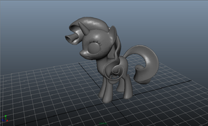 Rarity 3D Maya Model by SkittlesThePony1