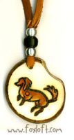 Dachshund Tagua Pendant by Foxfeather248