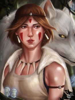 Princess Mononoke by SaifuddinDayana
