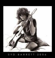 Syd Barrett, and his Fender by HomeSkillet87