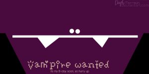 Vampire wanted by daph-coco