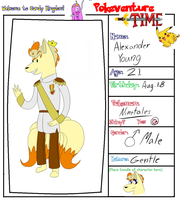 Pokeventure-Time App: Alexander by LaughingZoroark