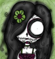 Sugar skull. by Reekaann