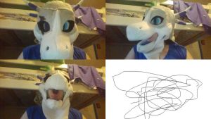 Fursuit head is just about done :D by HydraWolfHatena