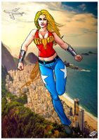 Wonder-girl in Rio. by Troianocomics