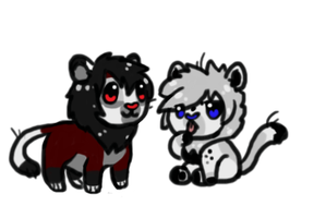 Two new Lion Cub Characters by HappyFoxChelsy