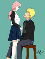 Look into your eyes - NaruSaku  by mila-shalala