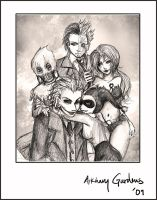 Happy Arkham Family by TyrineCarver