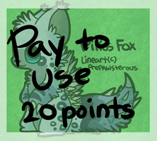 :Pay to Use Pikus Fox Lineart:(20 points): by PrePAWSterous