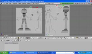 Blender Sonic Chara Progress by costails4ever