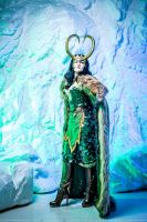 Lady Loki - ice and snow by ZoeVolf
