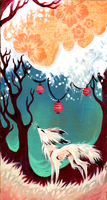 Fox and Lanterns by IceandSnow