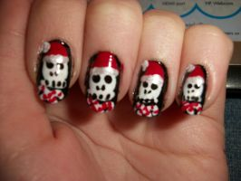 Jolly Roger Nails by QueenAliceOfAwesome