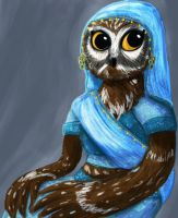 Owl Noble Woman by Purple-Sin