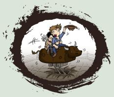 Cas vs Bucking Bronco by blackbirdrose