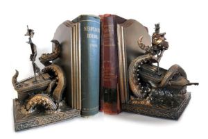 Kraken Bookends by DellamorteCo