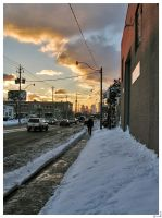 Eastern Ave at Sunset 3 by mykem