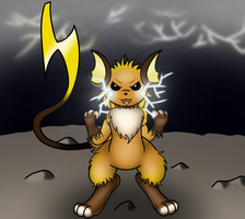 Behold, the Arrival of... MEGA RAICHU. by Ryusuta