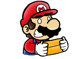 Mario with a letter by SuperBomb-Omb