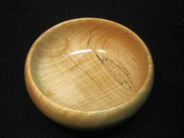 Curly maple bowl by DMSscroller