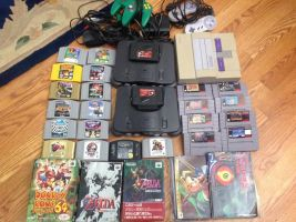 My Classic Video Game Collection by TravelingArtist93