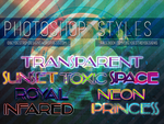 8 Photoshop Styles - FREE by ObeyDestroyDesigns