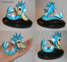 Pokemon - Gyarados Sculpture with Base - Handmade by YellerCrakka