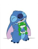 Stitch and Froggy Colored by iloveLily