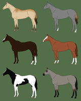 Horse adoptables by AniaJag