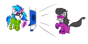 Vinyl Scratch and Octavia by MMarceline