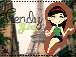 Trendy Gril .png .psd by iRouges