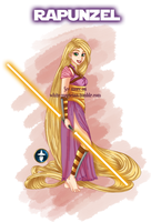 Disney Jedi Princess Rapunzel by White-Magician