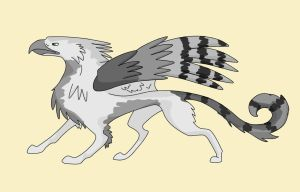 Gryphon coloured by Gray-Gryphon