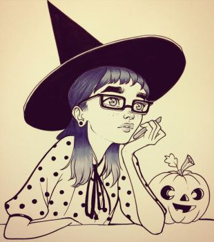 Bored Witch by chrissie-zullo